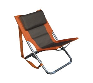 Relags Travel Chair 'Beach' - oranje / bruin