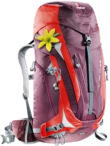 Deuter ACT Trail Pro 38 SL aubergine-fire