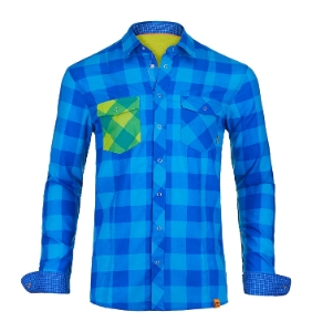 Ortovox  ROCK´N´WOOL COOL SHIRT LONG SLEEVE blue ocean