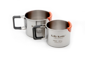 Kelly Kettle Camping Cup Set, 300 & 500 ml